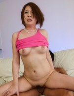 Asian Av Group Sex - Yurika Momo Asian sucks cock and is fingered and nailed in peach
