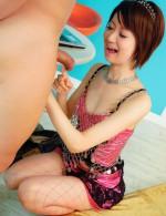 Hot Asian Av Videos - Cute and joyful Miriya Hazuki gets her wet pink invaded