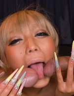 Japanese Av Cum Videos - Rina Aina Asian busty licks cocks she will get in her fuck hole